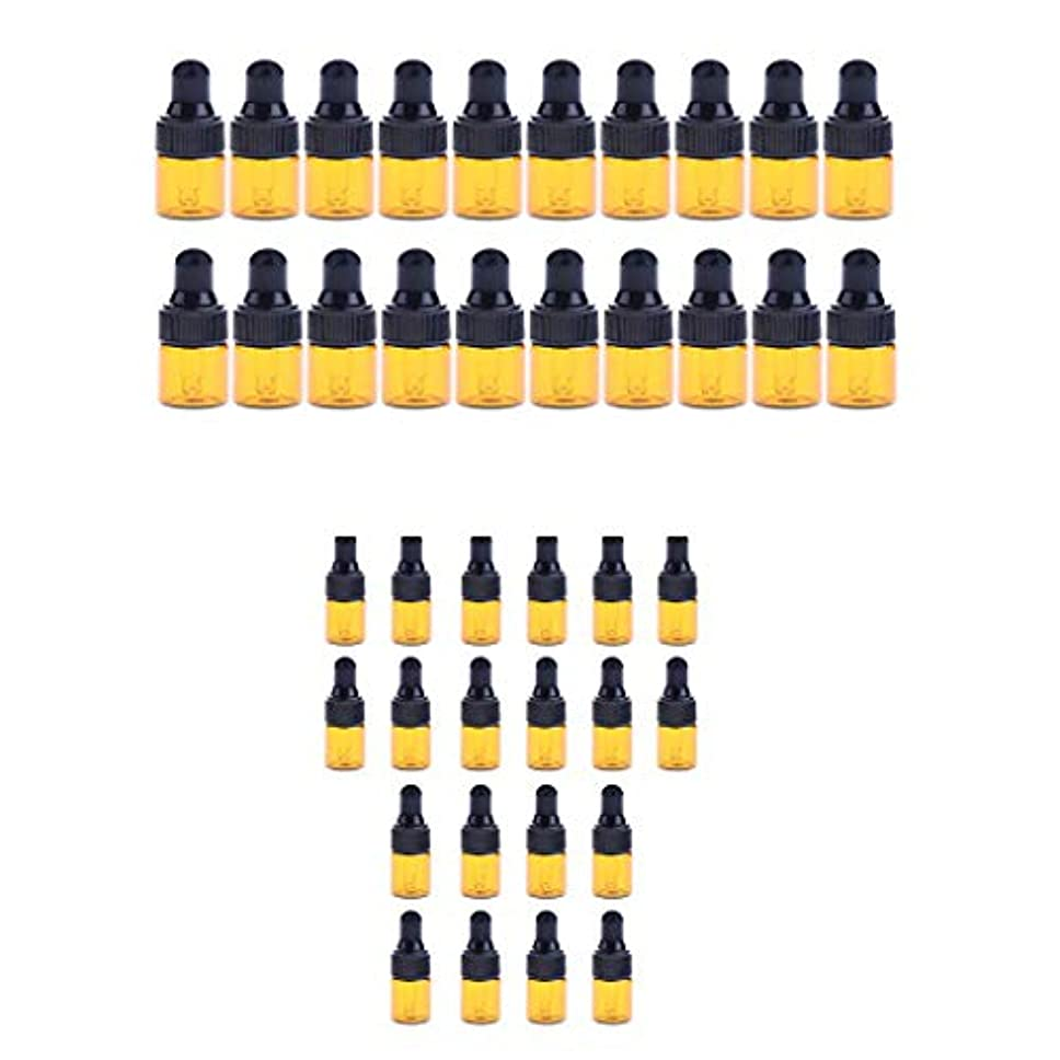 選択やめる店員小分けボトル スポイトボトル ガラス瓶 詰め替え 精油 香水 保存用 2ml / 3ml 40個入