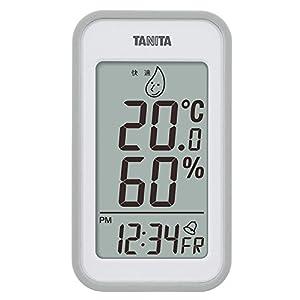 タニタ デジタル温湿度計 置き掛け両用タイプ/マグネット付 グレー TT-559-GY