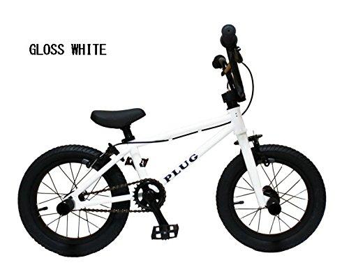 """『最軽量、クラス最高峰です。』【BMX KIDS 14インチ】 【キッズ】【子供自転車】TNB/PLUG - 14"""" / グロスホワイト"""