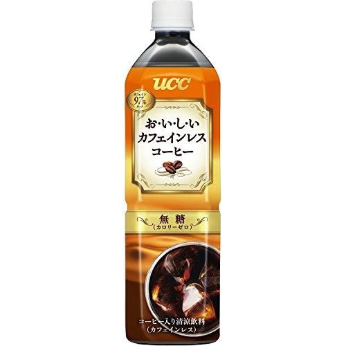UCC おいしいカフェインレス コーヒー ボトルコーヒー 無糖 900ml×12本