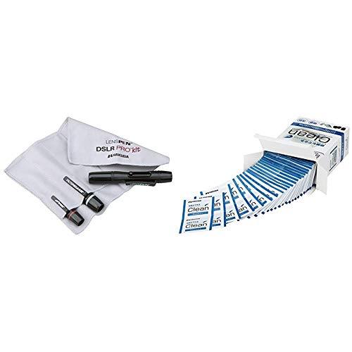 HAKUBA メンテナンス用品 レンズペンプロキットプラス 3本セット+ヘッドスペア+収納ファイバークロス ブラック KMC-LP23BKTP  レンズクリーニングティッシュ 個装 100枚入り 速乾 除菌 ウェットタイプ KMC-78