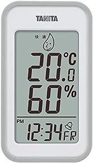 タニタ 温湿度計 時計 カレンダー アラーム 温度 湿度 デジタル 壁掛け 卓上 マグネット グレー TT-559 GY