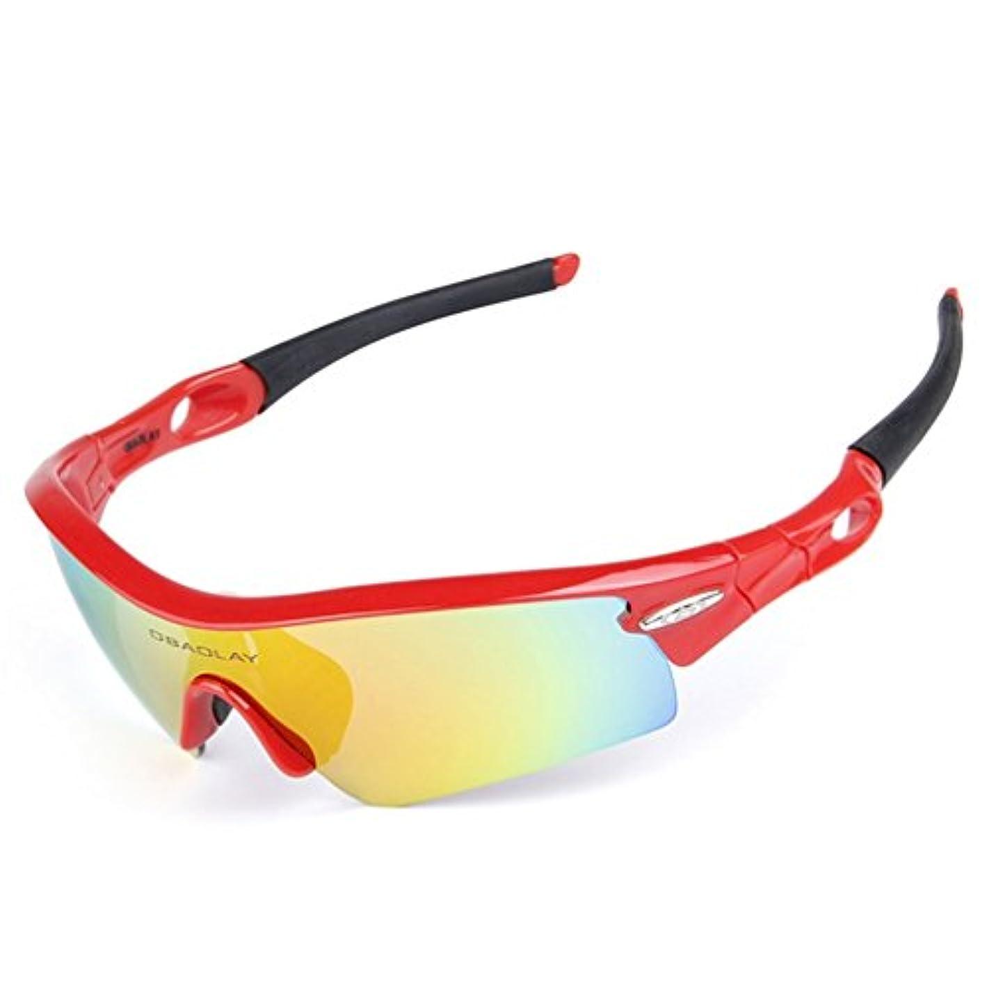 お手伝いさん包括的健康Lorsoul 偏光スポーツサングラス 交換可能なレンズ5枚付き TR90 割れないグラス メンズ レディース サイクリング 運転 ランニング バイキング ゴルフ
