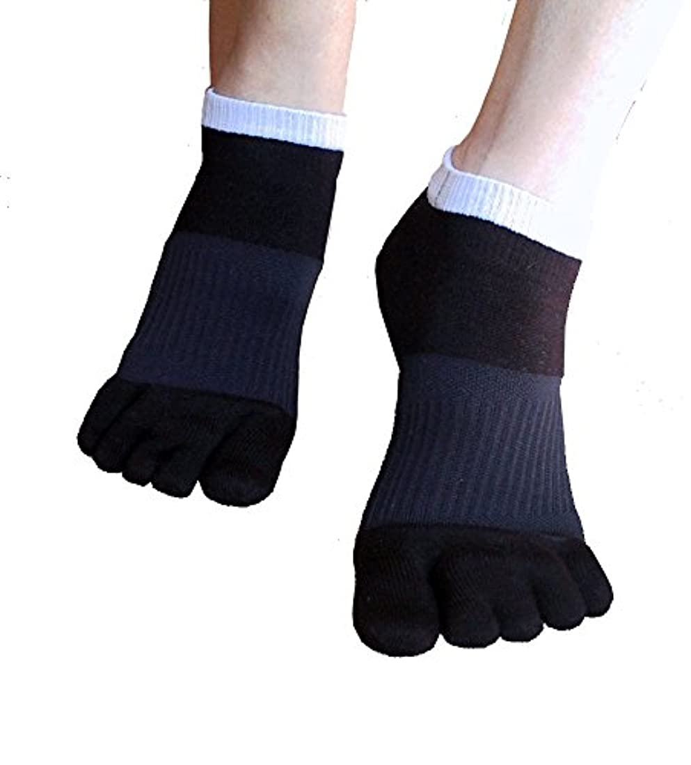 収容する処理そのような外反母趾対策 ふしぎな5本指テーピング靴下 スニーカータイプ 22-24cm?ブラック(色は2色、サイズは3サイズ)