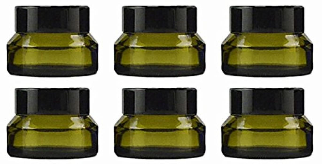 【Rurumi】ハンドクリーム 容器 遮光 ジャー 30g 6個 セット アロマ ハンド クリーム 遮光瓶 ガラス 瓶 アロマ ボトル ビン 保存 詰替え (ライムグリーン)