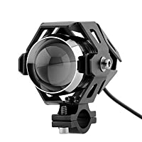 Wecade Motorcycle 125W CREE U5 LED Driving Fog Head Spot Light White Lamp Headlight (Black) [並行輸入品]