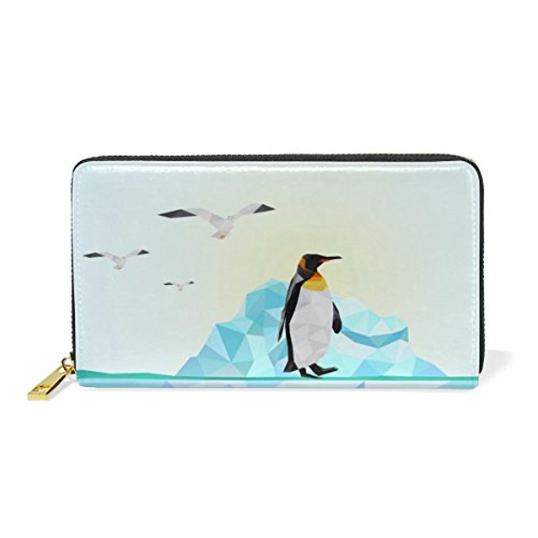 ROYALLOVE 萌え 可愛い ペンギン penguin 長財布 レディース メンズ ラウンドファスナー 財布 小銭入れ レザー 多機能 大容量 人気 プレゼント対応 マルチカラー