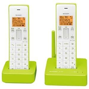 シャープ デジタルコードレス電話機 子機1台付き 1.9GHz DECT準拠方式 グリーン系 JD-S06CW-G
