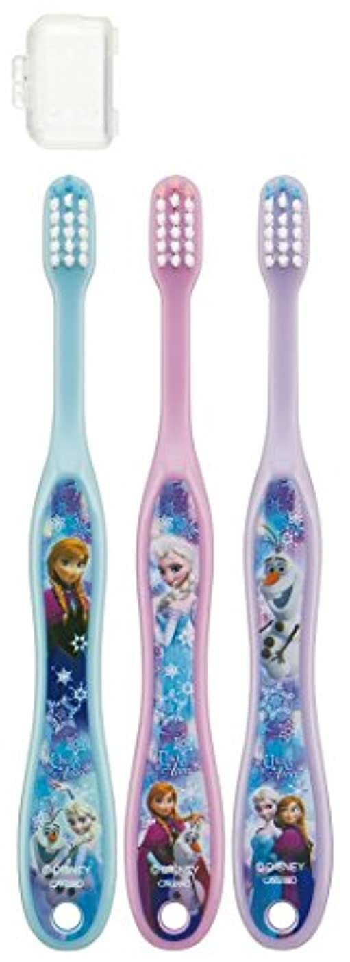散歩個人的に素晴らしいスケーター 歯ブラシ 園児用 3-5才 毛の硬さ普通 3本組 アナと雪の女王 15 TB5T