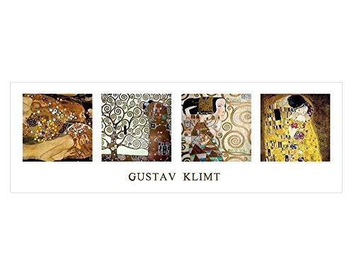 """Alonlineアート–Tree of Life the Kiss Water SerpentsコラージュGustav Klimtキャンバスの印刷( 100%コットン、フレームなしunmounted ) 36""""x12"""" - 91x30cm VM-KLM133-STK0F00-1P1A-36-12"""