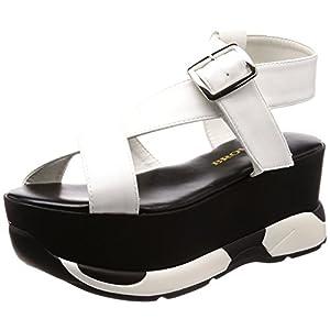 [ウィゴー] レディースファッションサンダル 厚底スポーツサンダル ホワイト 23.5~24.0 cm