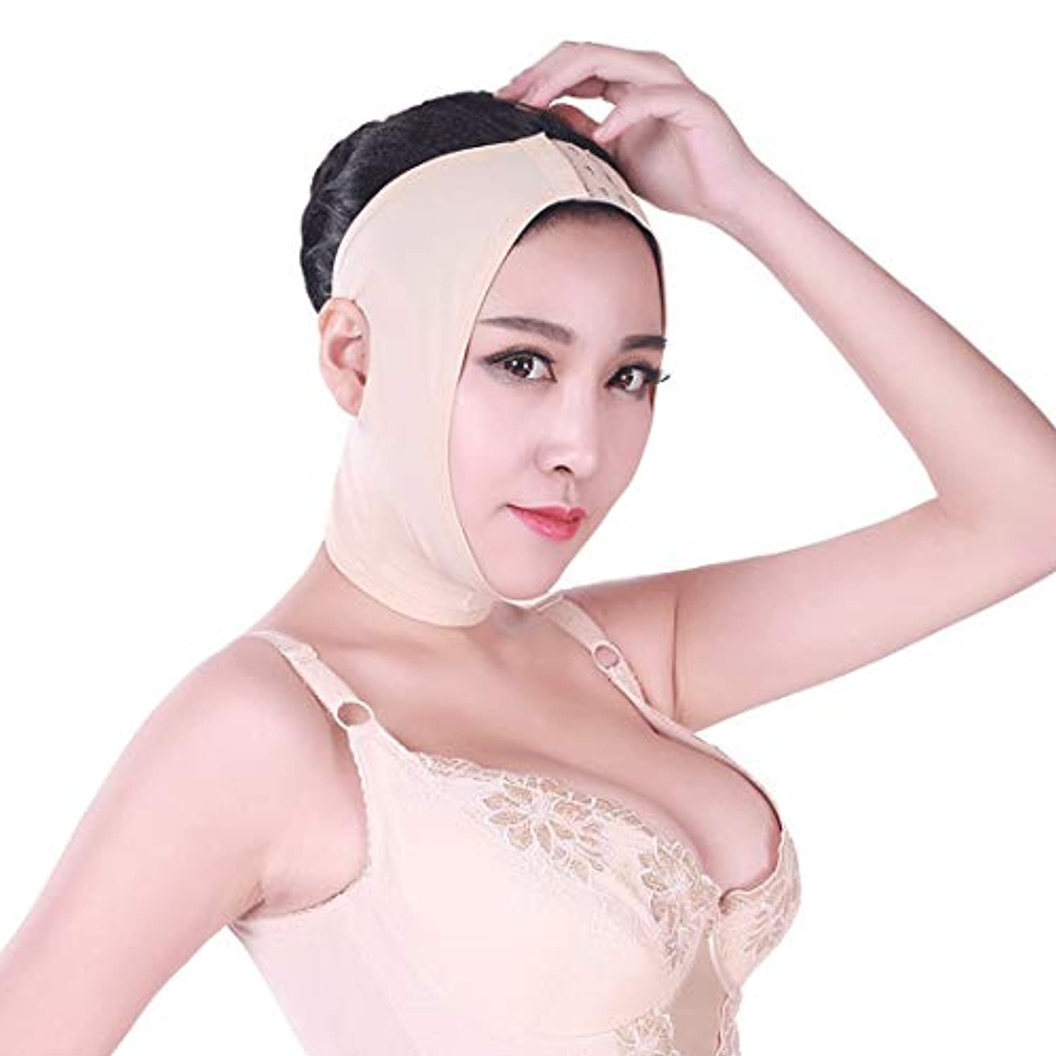 ZWBD フェイスマスク, 顔の痩身マスク、肌を引き締めるためにVフェイスライン包帯フェイシャルダブルチンリフティングフェイスを持ち上げる (Size : XS)