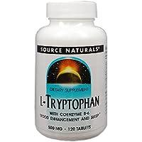 [海外直送品] Source Naturals L-トリプトファン(カルシウム&活性型ビタミンB6配合) 120粒