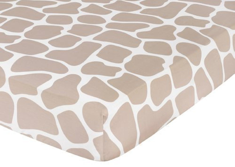 Sweet Jojo Designs Giraffe Fitted Crib Sheet for Baby/Toddler Bedding - Animal Print [並行輸入品]