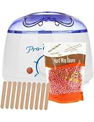 Livemarket 200ccワックスウォーマーポットマシン+ 100グラムワックス豆サロンスパ脱毛ホットパラフィンハンドレッグボディケア器具プロ - ワックス100 (ローズ)