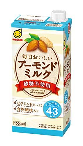 マルサン アーモンドミルク 砂糖不使用L 1000ml×6本