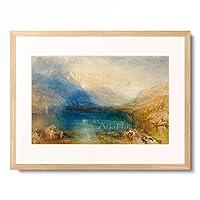 ジョゼフ・マロード・ウィリアム・ターナー Joseph Mallord William Turner 「The Lake of Zug: early Morning, 1843.」 額装アート作品