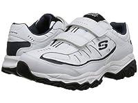 SKECHERS(スケッチャーズ) メンズ 男性用 シューズ 靴 スニーカー 運動靴 Afterburn M. Fit Stike On - White/Navy 9 4E - Extra Wide [並行輸入品]