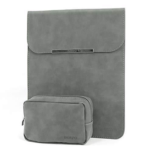 IMAVO MacBook Pro 13ケース MacBook Air 13 ケース パソコンケース ノートパソコンケース インナーケース pcケース ポーチ付き 防水 軽量 13-13.3インチ グレー