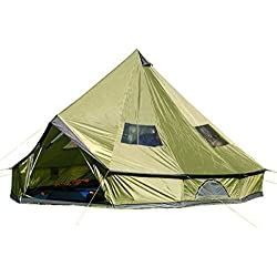 Hasika 4-Season 10 Persons Waterproof Large Family Tent Hunting Camp Tent HUGE Teepee Tents For SaleSize 5M/16.4ft