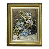 ルノワール 春のブーケ F6 油絵直筆仕上げ  絵画6号 554×463mm 複製画 ゴールド