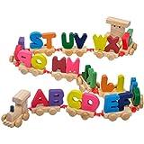 Toymytoy 木製のおもちゃ 積み木玩具 子供 磁気 アルファベット列車 おもちゃ 早期知育玩具 ミニレタートレイン キッズ お誕生日プレゼント