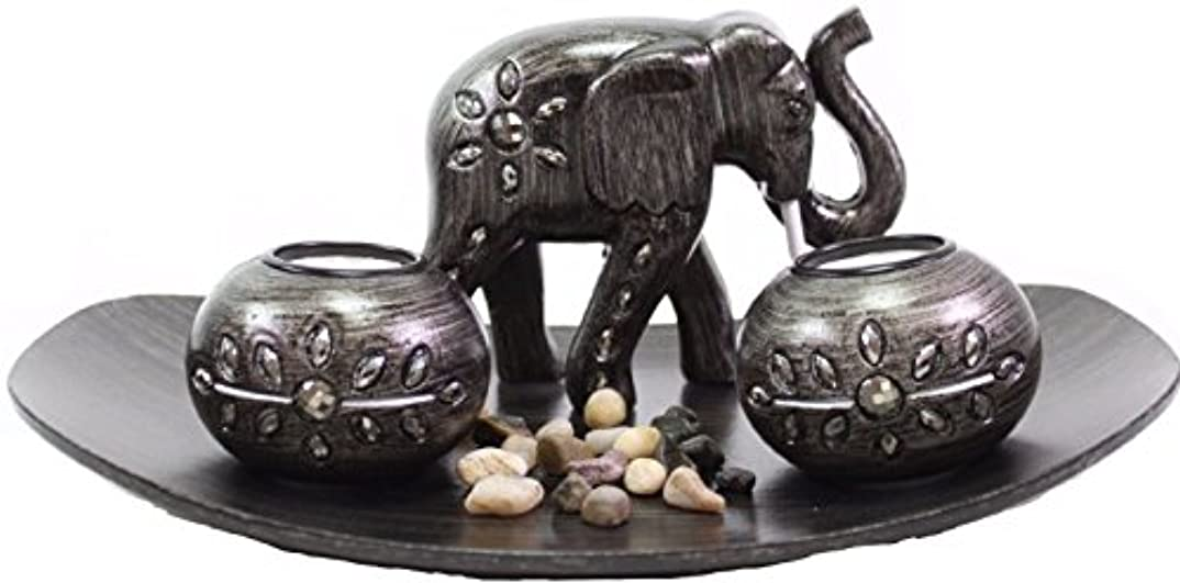 困惑する墓音節(Thai Elephant) - Tabletop Incense Burner Gifts & Decor Zen Thai Elephant w/Light Candle USA SELLER (Thai Elephant...