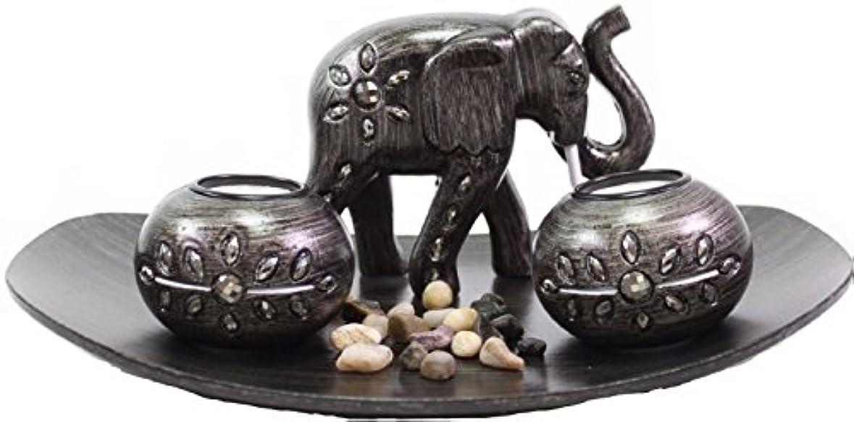 であることテメリティ教育する(Thai Elephant) - Tabletop Incense Burner Gifts & Decor Zen Thai Elephant w/Light Candle USA SELLER (Thai Elephant G16290)