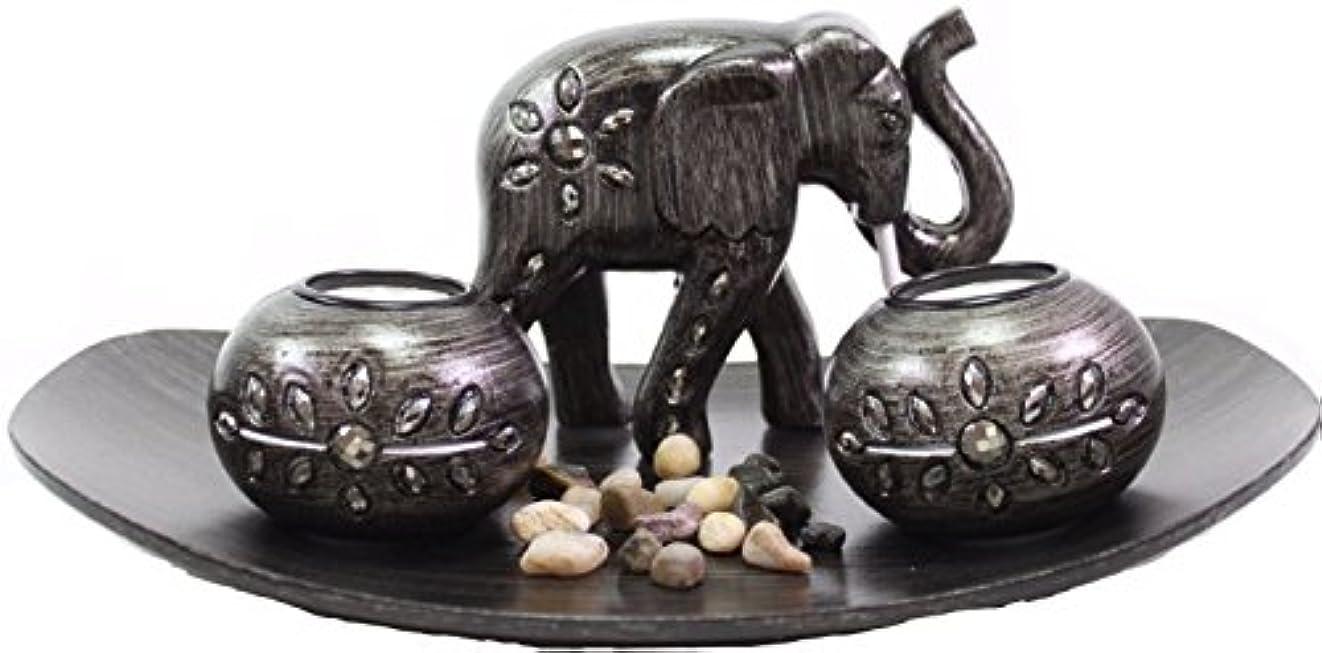郡貯水池フェザー(Thai Elephant) - Tabletop Incense Burner Gifts & Decor Zen Thai Elephant w/Light Candle USA SELLER (Thai Elephant...