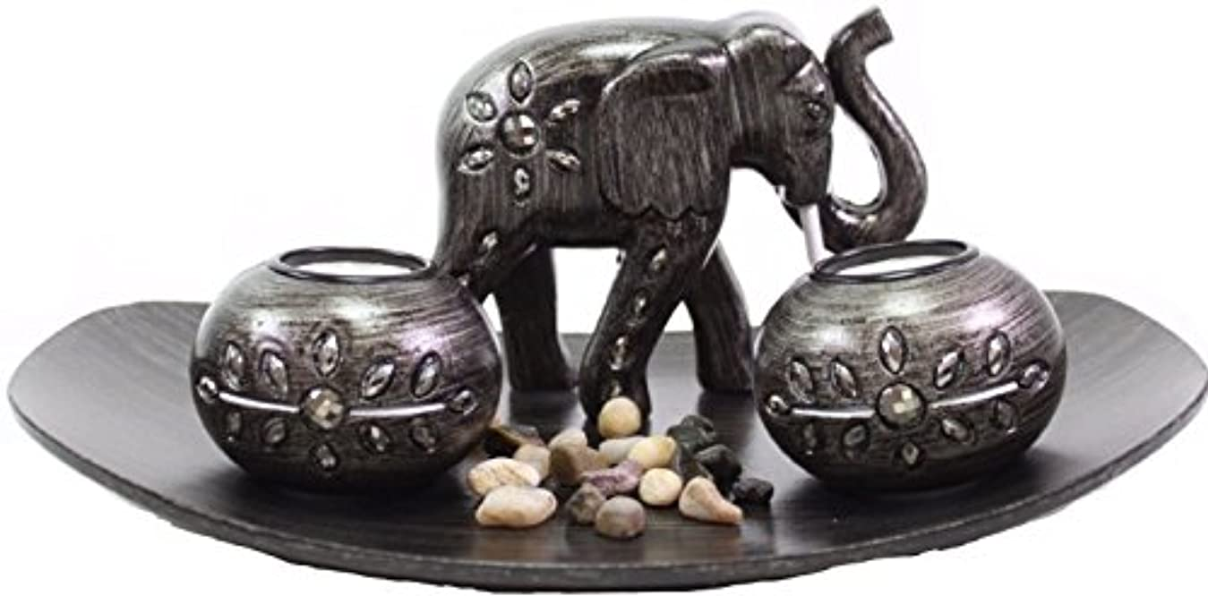 見習いヒット抽象化(Thai Elephant) - Tabletop Incense Burner Gifts & Decor Zen Thai Elephant w/Light Candle USA SELLER (Thai Elephant...