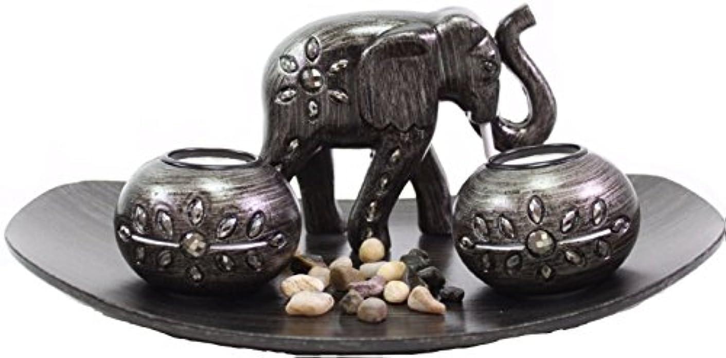 飲み込むショートカット面倒(Thai Elephant) - Tabletop Incense Burner Gifts & Decor Zen Thai Elephant w/Light Candle USA SELLER (Thai Elephant...