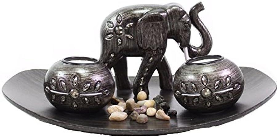 シンク黒板小川(Thai Elephant) - Tabletop Incense Burner Gifts & Decor Zen Thai Elephant w/Light Candle USA SELLER (Thai Elephant...