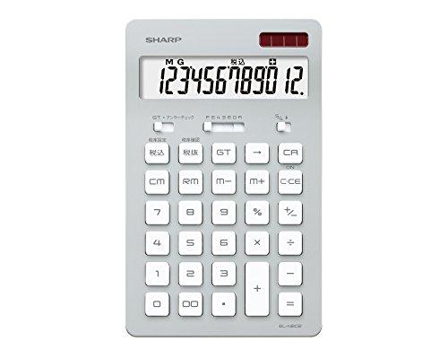 シャープ 電卓 12桁(ナイスサイズタイプ) シルバー系 EL-N802-SX