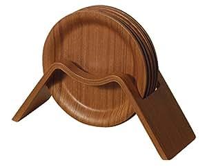 SAITO WOOD コースターセット チークグレイン