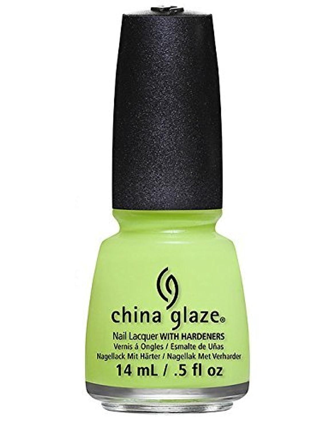 予見する批判する増強China Glaze Avant Garden Collection, Grass is Lime Greener by China Glaze [並行輸入品]