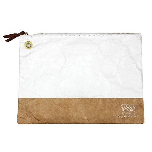 STOCKROOM(ストックルーム)デュポン タイベック タイトケース クラッチバッグ セカンドバッグ タブレットケース ホワイト