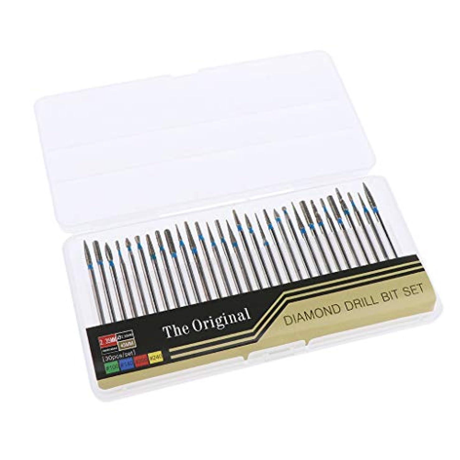 タービン統合簡潔なB Baosity 約30本 ネイルアート 電気ドリルビット マニキュア ペディキュア 2タイプ選べ - A