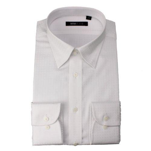 [エムエムワン] MM/ONE 厳選した全13種類から選べる メンズ ビジネスシャツ ボタンダウン ワイシャツ ドレスシャツ セット 【028L ホワイト】 L(41-85)