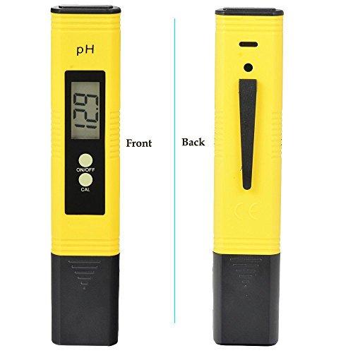 熱帯魚 金魚 飼育等の水質検査に 自動校正機能付き Degital PHメーター デジタルペーハー測定器 日本語説明書、校正剤付き (PH002)