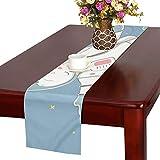 GGSXD テーブルランナー かわいいカバ クロス 食卓カバー 麻綿製 欧米 おしゃれ 16 Inch X 72 Inch (40cm X 182cm) キッチン ダイニング ホーム デコレーション モダン リビング 洗える