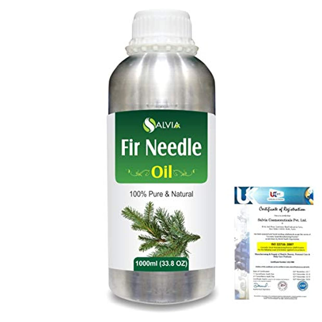 オークションヘビー欠乏Fir Needle (Abies balsamea) 100% Natural Pure Essential Oil 1000ml/33.8fl.oz.