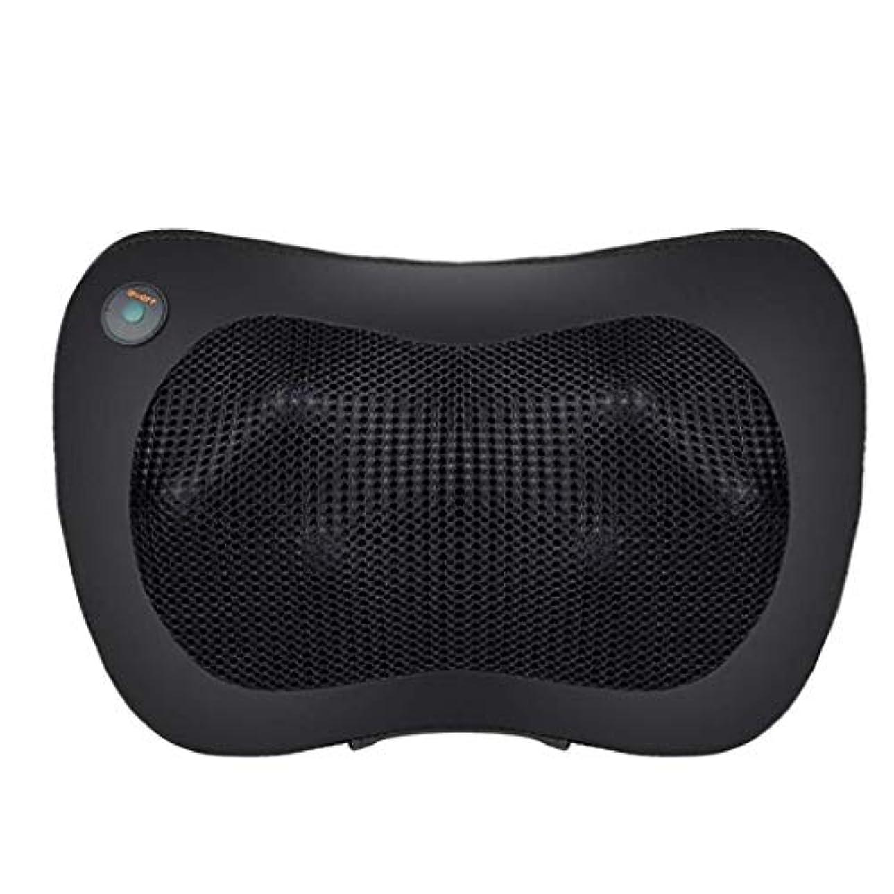クランシー部補償3Dネックマッサージャー、フィンガープレスネックマッサージピロー、多機能マッサージモード、スマートワンボタン、20強度、15分のタイミング、ホームオフィス用 (Color : 黒)