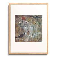 パウル・クレー Paul Klee 「Landscape with Crows. 1925.」 額装アート作品