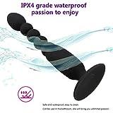 LRWTY 女性のための7つの頻度シリコーンの防水ビーズの後部肛門のプラグの充満マッサージのバイブレーター LW ( Color : Black )
