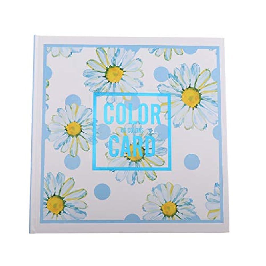 瞑想的猫背摂氏ネイルカラーカードブック ネイルポリッシュ表示 ネイルアート色見本 ネイルアート用 折り畳み式 全3種 - 04