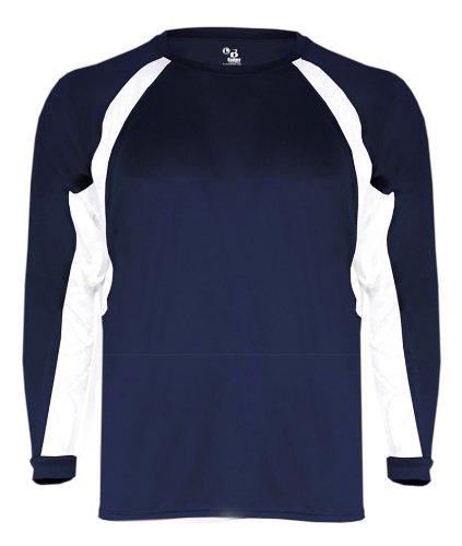 Badger Big Boys ' b-coreパフォーマンスフックアスレチックTシャツ US サイズ: L カラー: ブルー