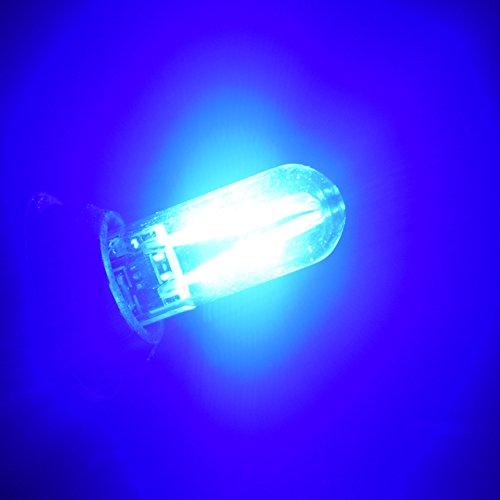 FASTCAR T10 194 W5W COB ガラスレンズ付き LED アイスブルー DC8V-28V 無極性仕様 2個セット