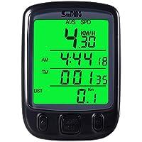 (メイクプレイ) サイクルコンピューター 自転車スピードメーター LCD 防水 携帯便利 ブラック