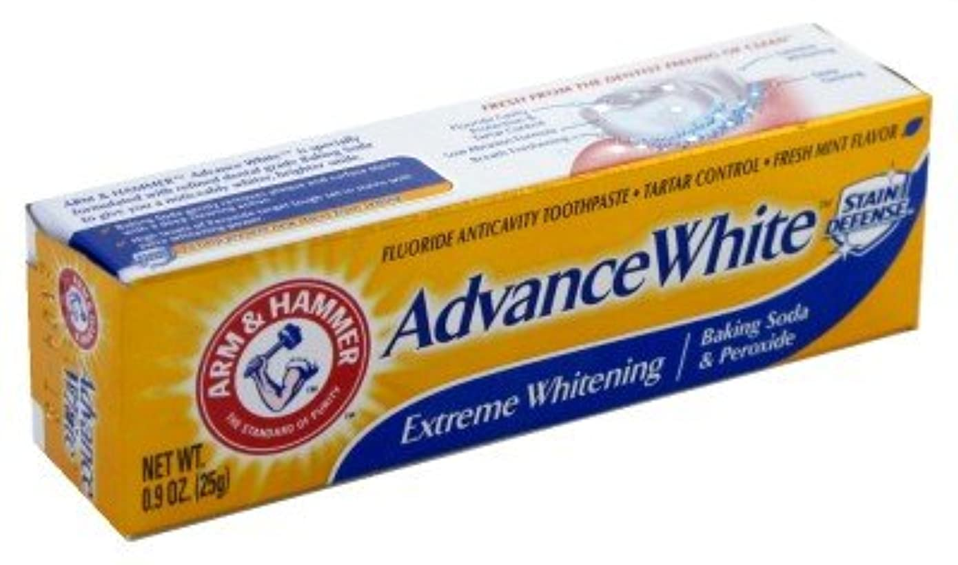 退化する曇った空Arm & Hammer Toothpaste Advance X-Treme Whitening 0.9 oz. by Arm & Hammer