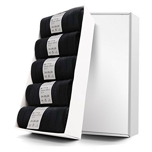 Sumpus 靴下 メンズ ソックス ビジネスソックス 通気性抜群 抗菌防臭 吸汗5足組(ブラック) (FZ-NW)
